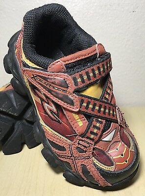 STRIDE RITE X-CELERACERS IRON MAN Red Black Leather Sneakers Shoes Toddler Sz 9W