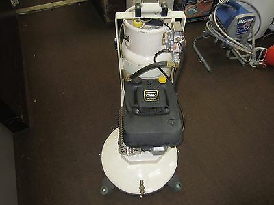 "Propane powered 17"" floor buffer polisher with pads"