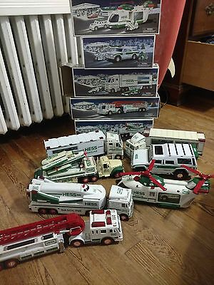 Hess Toy Trucks Lot of 8 (years 2000 to 2004)
