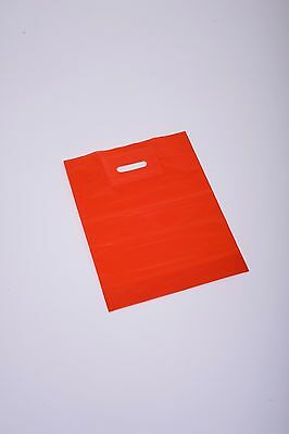 Coloured Plastic Patch handle fancy Carrier Bag Small Medium Large