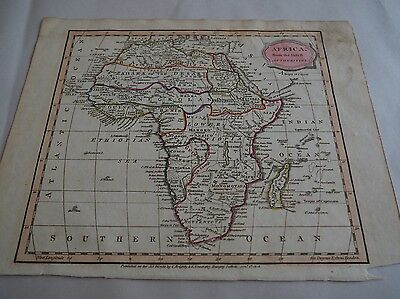 """Antique Map, """"Africa from the latest Authorities""""  J. Barlow, 1807"""