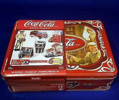Coca-Cola Icons Collectible Wrebbit Puzz 3D 6 Puzzles In One Tin New Sealed