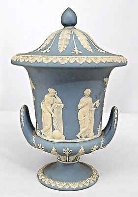 English Blue and White Porcelain Campagna Urn