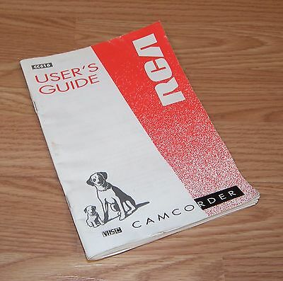 User's Guide / Manual Only For RCA (CC616) VHS-C Camcorder **READ**