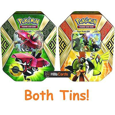 Pokemon Cards: Both Summer 2017 Collectors Tins: Tapu Koko + Tapu Bulu GX - TCG