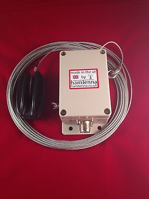End Fed Antenna Longwire Hf Multi Band Aerial Atu 9-1 Unun 800w Teflon Wire