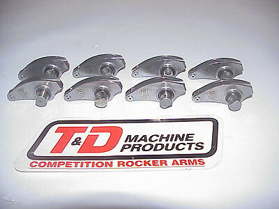 "8 T & D Stainless Steel 2.20 Ratio Roller Rockers Arms Code ""P"" NASCAR Xfinity"