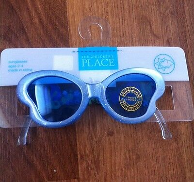 NWT Girls The Childrens Place Blue Butterfly Sunglasses Size 2-4 Yrs
