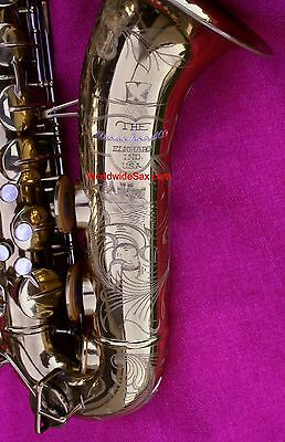 "SUPERB BEAUTY 1953 Buescher ""Top Hat & Cane"" TENOR, ser#346k - WORLDWIDESAX"