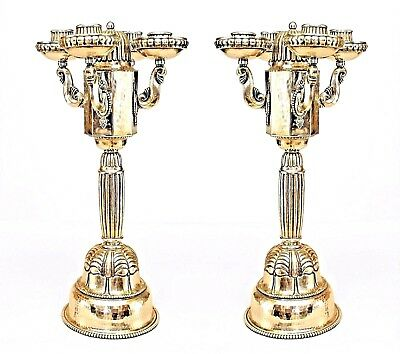 Pair of Austrian Art Deco (Secessionist Style) Silverplate Candelabra
