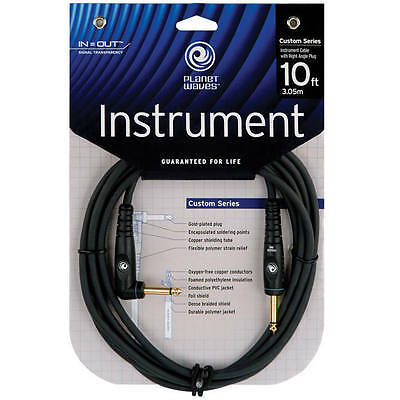 """Planet Waves 10' Right Angle 1/4"""" Instrument Cable $"""