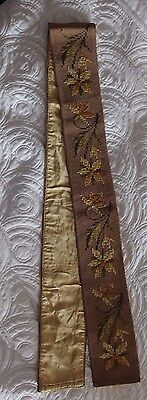 antique Edwardian hand worked tapestry embroidery silk back