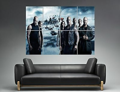 Fast And Furious 8 All CHARACTERS Wall Poster Grand format A0  Print
