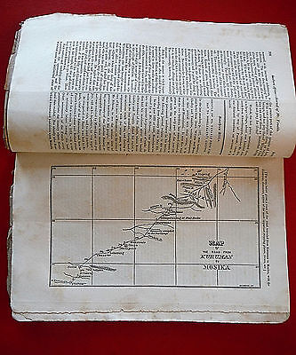 1837 S AFRICA antique MAP Kuruman - Mosika Slavery Cannibalism Missionary Herald