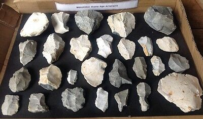 Collection 27 Mesolithic Age Stone Cores Blades Tools 10,000 BC UK
