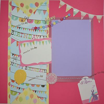 Handmade Scrapbook page - Happy Birthday