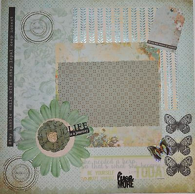 Handmade Scrapbook page - Life is a Journey