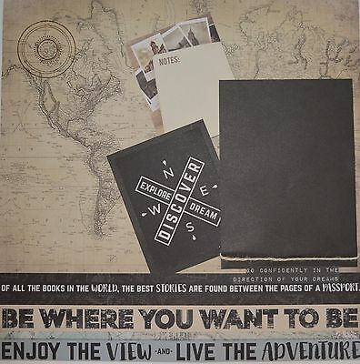 Handmade Scrapbook page - Live the Adventure