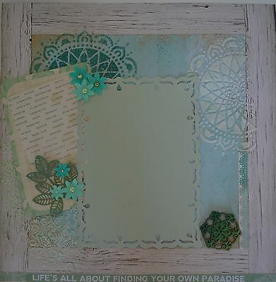Handmade scrapbook page - Find Your Own Paradise