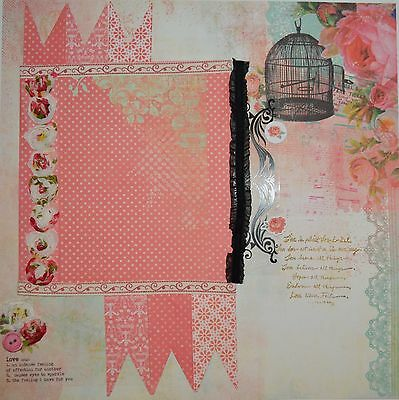 Handmade Scrapbook page - Love the Way you Smile