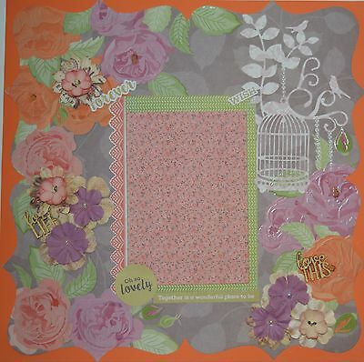 Hand made Scrapbook page - Oh So Lovely