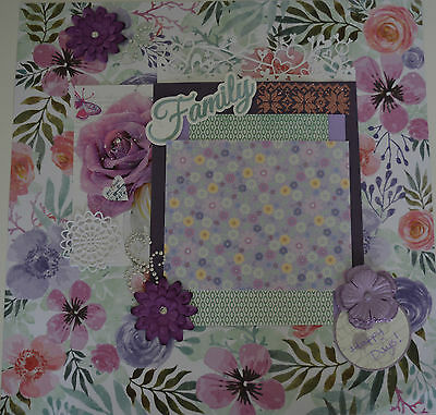 Handmade scrapbook page - Happy Days