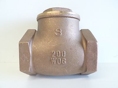 "NEW Check Valve Swing Brass 75mm 3"" BSP 80mm Non Return Irrigation Pump"