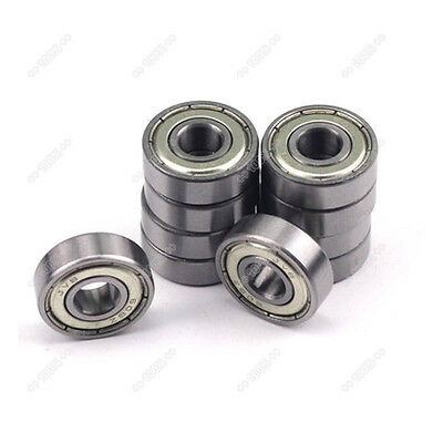 10pcs Skateboard Scooter Roller Blade Ball  608-ZZ Bearings ABEC-5 8X22X7mm
