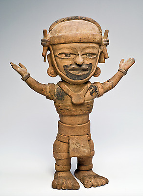 Large Veracruz Figure Remojadas Pre-Columbian Antiquity from Mexico 600-900 A.D.