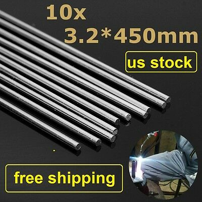 "10pcs 3.2mm*17.7"" Aluminum Alloy Repair Brazing Rods No Welding Fix Cracks Polis"