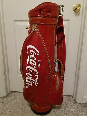 Vintage 70s Titleist Leather Coca-Cola (Coke) Golf Bag