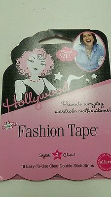 Lot of 4 NEW Hollywood Fashion Tape 18-double Stick Strips Prom/Strapless