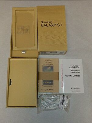 Samsung Galaxy S4 BOX w/ Headset & paper only - no phone - T mobile