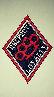 Diamond Patch Respect Brass Knuckle Patch 1%er Red, White & Black 2 Borders