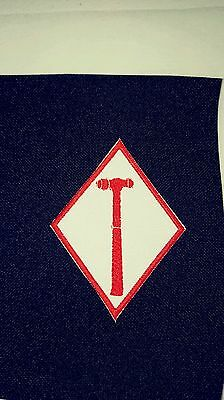 Ball-Peen Hammer Support 81 Diamond Patch. Red & White 1%er Support patch