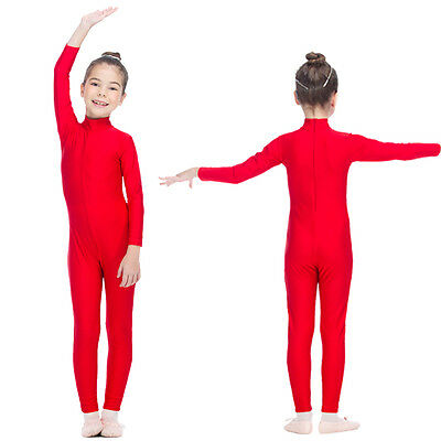 Catsuit Unitard Gymnastics High Neck Ankle Length Dance Bodysuit Adults Girls