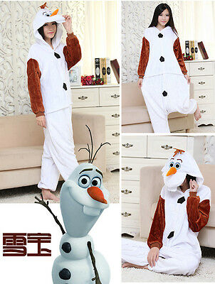 NEW Adult Costume Kigurumi Pajamas Cosplay Onesie Pyjamas Cotton Olaf L