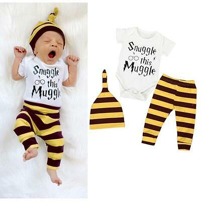 955595751 TWINS MATCHING NEWBORN Baby Boys Girl Tops Romper Pants Hat Outfits ...