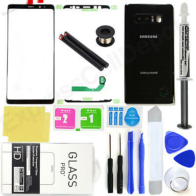 For Samsung Galaxy Note 8 N950 -Black-Front Screen Glass Back Replacement Kit