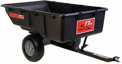 Brinly-Hardy 850 lb Tow-Behind Poly Utility Cart Lawn Tractor Attachment Garden
