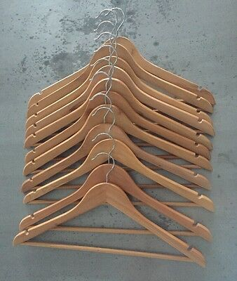 100x Timber Coat Clothes Hangers - Wooden Wardrobe Hangers