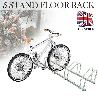 5 Bike Bicycle Stand Floor Rack Parking Storage Mount Holder Stainless Steel New