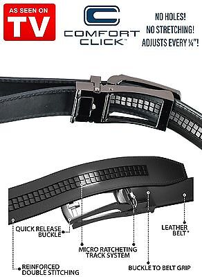NEW Comfort Click Belt for Men Black or Brown As Seen on TV USA FAST SHIPPING