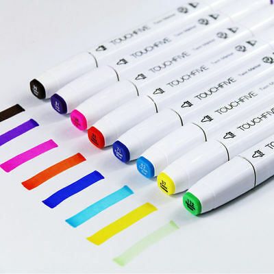 80 Farbe Color Marker Pen for Touch Twin Tip Graphic Art Drawing Broad Fine DE t