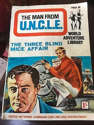 THE MAN FROM UNCLE No.2 - THE THREE BLIND MICE AFFAIR adventure picture library