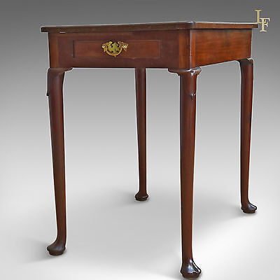 Antique Side Table, Early Georgian, Walnut c.1750