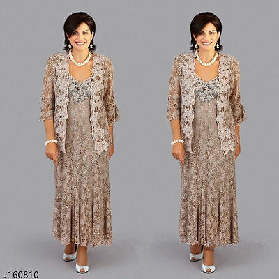 Plus Size Vintage Lace Wedding Mother Of Bride Dresses Outfits Suit Custom made