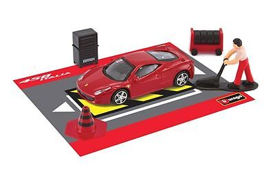 Ferrari 458 Italia Race and Play Toy Car Gift Set Diecast Model 1:43 Scale