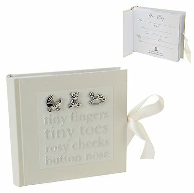 CG379 Bambino Baby Photo Album Tiny Fingers Christening Gift