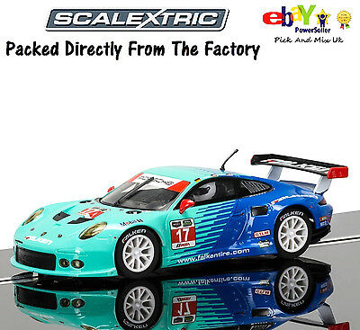 NEW IN Scalextric Slot Car  Porsche 911 RSR, Falken Tire C3851